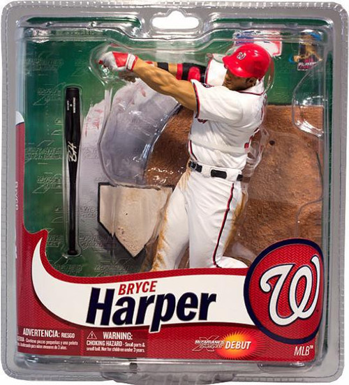 McFarlane Toys MLB Washington Nationals Sports Picks Exclusive Bryce Harper Exclusive Action Figure [White Jersey]