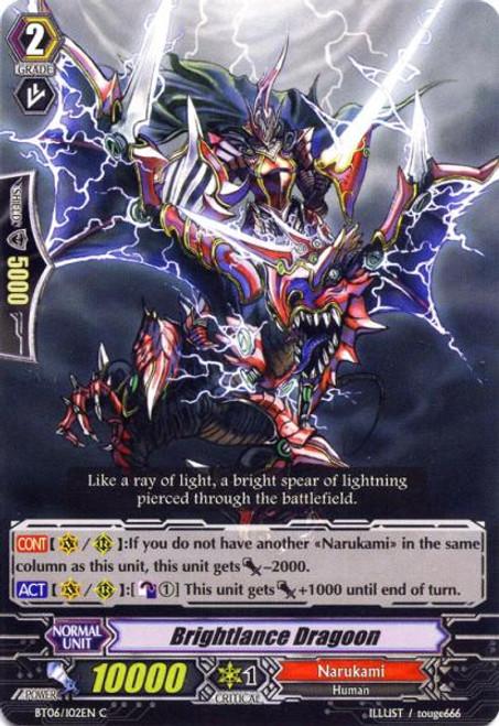 Cardfight Vanguard Breaker of Limits Common Brightlance Dragon BT06/102