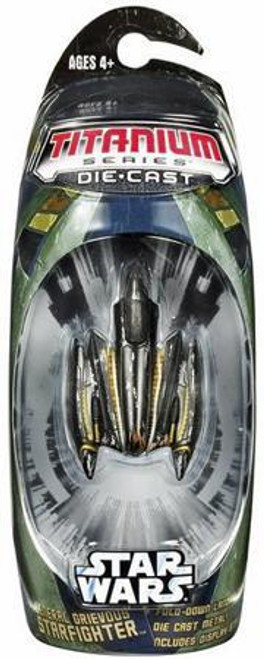 Star Wars The Clone Wars Titanium Series 2007 General Grievous Starfighter Diecast Vehicle