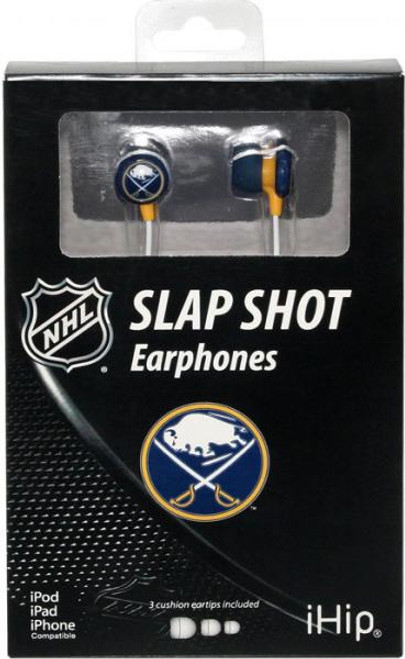NHL Slap Shot Earphones Buffalo Sabers Earbuds