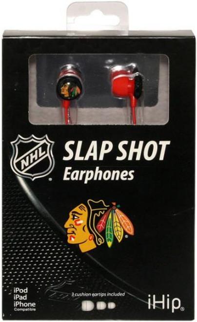 NHL Slap Shot Earphones Chicago Blackhawks Earbuds