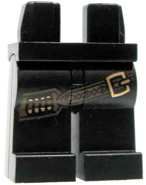 LEGO Minifigure Parts Black with Brown Ammo Belt & Brass Buckle Loose Legs [Loose]