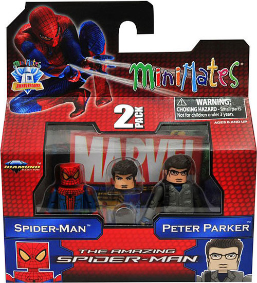 The Amazing Spider-Man Minimates Series 46 Spider-Man & Peter Parker Minifigure 2-Pack