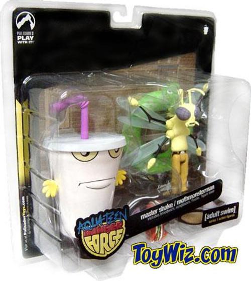 Adult Swim Aqua Teen Hunger Force Series 1 Master Shake & Moth Man Monster Action Figure 2-Pack