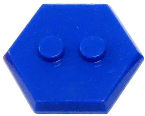 Catspaw Customs 2-Stud MiniFig Hex Stand [Blue]