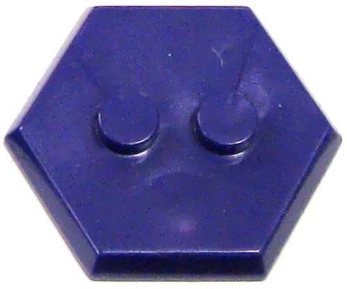 Catspaw Customs 2-Stud MiniFig Hex Stand [Purple]