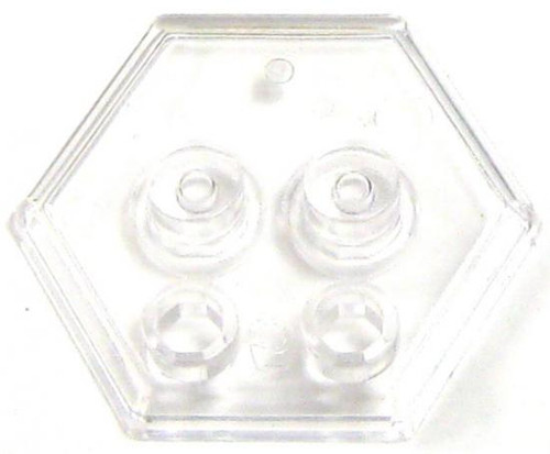 Catspaw Customs 4-Stud MiniFig Hex Stand [Clear]