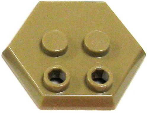 Catspaw Customs 4-Stud MiniFig Hex Stand [Dark Tan]
