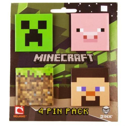 Minecraft 4 Pin Pack