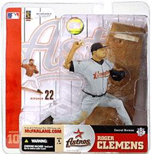 McFarlane Toys MLB Houston Astros Sports Picks Series 10 Roger Clemens Action Figure [Gray Jersey, Damaged Package]