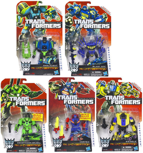 Transformers Generations Fall of Cybertron Bruticus Set of 5 Deluxe Action Figures