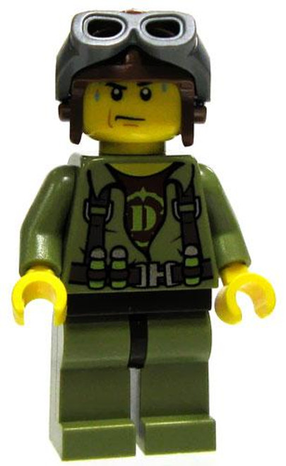 LEGO Dino Attack Loose Dino Hunter Helicopter Pilot Minifigure [Loose]