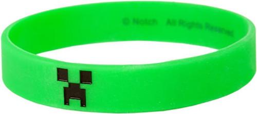 Minecraft Green Creeper Rubber Bracelet