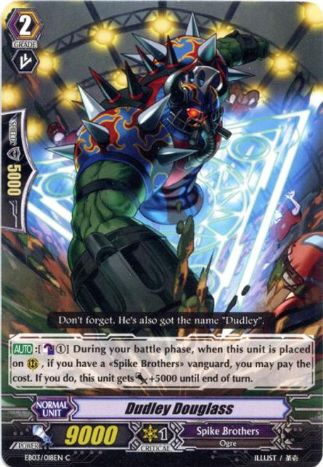 Cardfight Vanguard Cavalry of Black Steel Common Dudley Douglass EB03-018