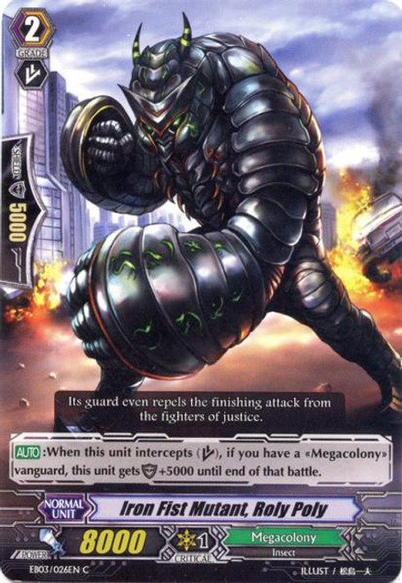 Cardfight Vanguard Cavalry of Black Steel Common Iron Fist Mutant, Roly Poly EB03-026