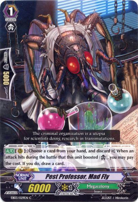 Cardfight Vanguard Cavalry of Black Steel Common Pest Professor, Mad Fly EB03-029