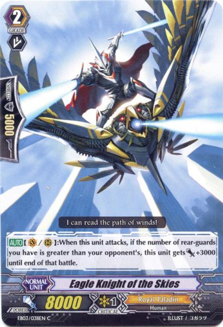 Cardfight Vanguard Cavalry of Black Steel Common Eagle Knight of the Skies EB03-038