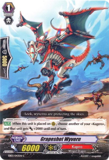 Cardfight Vanguard Cavalry of Black Steel Common Grapeshot Wyvern EB03-043