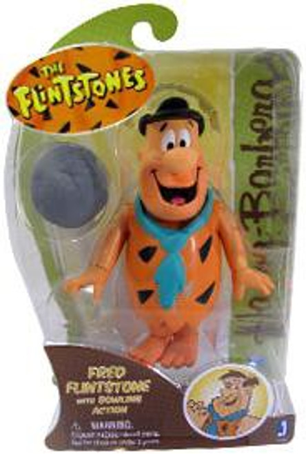 Hanna-Barbera The Flintstones Fred Flintstone Action Figure [With Bowling Action]
