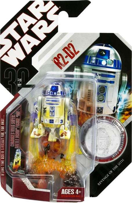 Star Wars Revenge of the Sith 30th Anniversary 2007 Wave 1 R2-D2 Action Figure #4