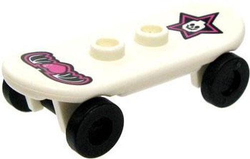 LEGO City Items White Skateboard with Star & Winged Heart Decals [Loose]