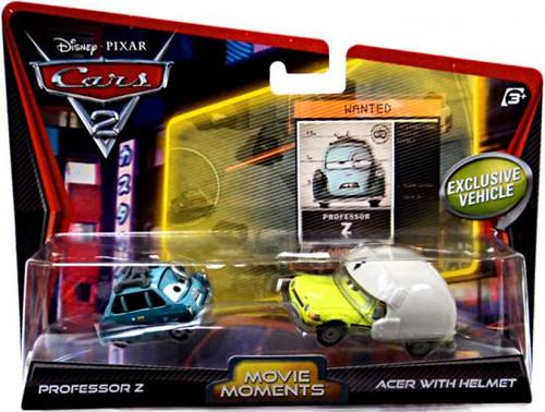 Disney Cars Cars 2 2-Packs Professor Z & Acer With Helmet Diecast Car 2-Pack