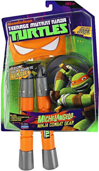 Teenage Mutant Ninja Turtles Nickelodeon Michelangelo Ninja Combat Gear Roleplay Toy