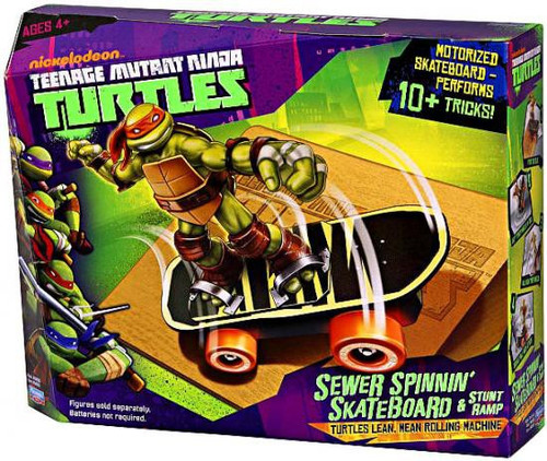 Teenage Mutant Ninja Turtles Nickelodeon Sewer Spinnin Skateboard Action Figure Vehicle