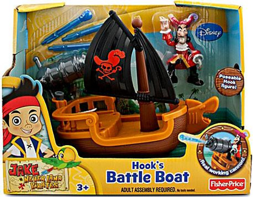 Fisher Price Disney Jake and the Never Land Pirates Hook's Battle Boat Playset