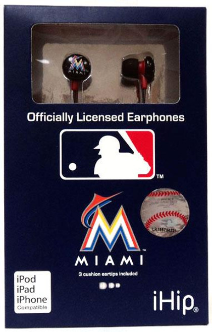 MLB Miami Marlins Earphones