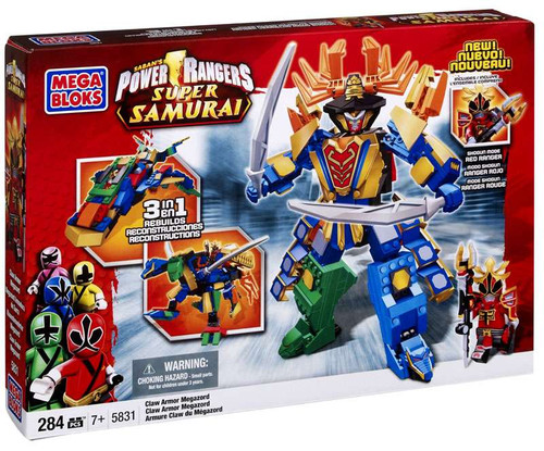 Mega Bloks Power Rangers Super Samurai Claw Armor Megazord Set #5831