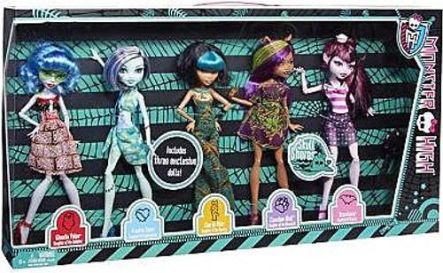 Monster High Skull Shores 10.5-Inch Doll 5-Pack