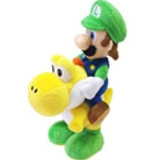 Super Mario Bros Luigi 8-Inch Plush [Riding Yellow Yoshi]