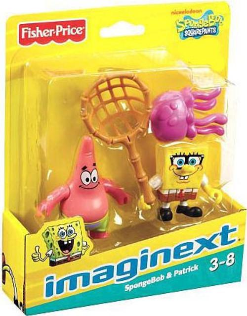 Fisher Price Spongebob Squarepants Imaginext SpongeBob & Patrick Exclusive 2-Inch Mini Figure 2-Pack