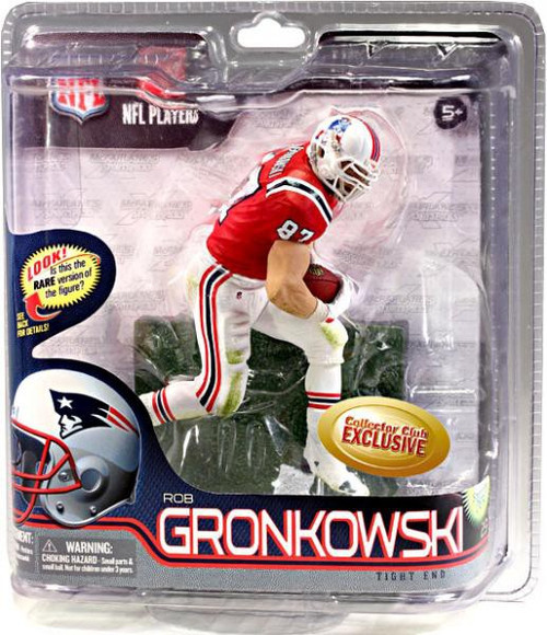 McFarlane Toys NFL New England Patriots Sports Picks Collectors Club Rob Gronkowski Exclusive Action Figure [Retro Red Jersey]