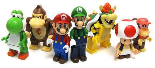 K'NEX Super Mario Set of 7 Minifigures [Loose]
