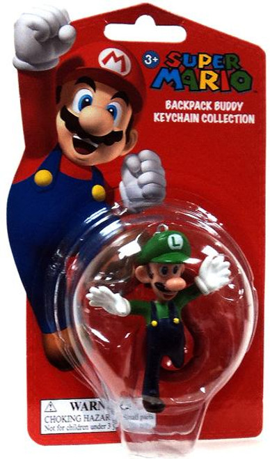 Super Mario Backpack Buddy Collection Luigi 2-Inch Keychain