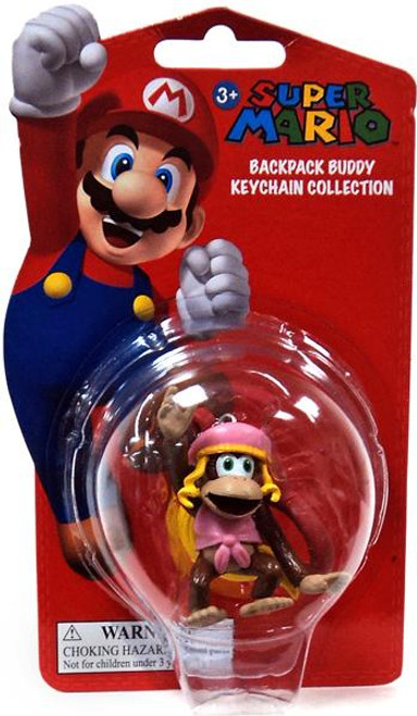 Super Mario Backpack Buddy Collection Dixie Kong 2-Inch Keychain