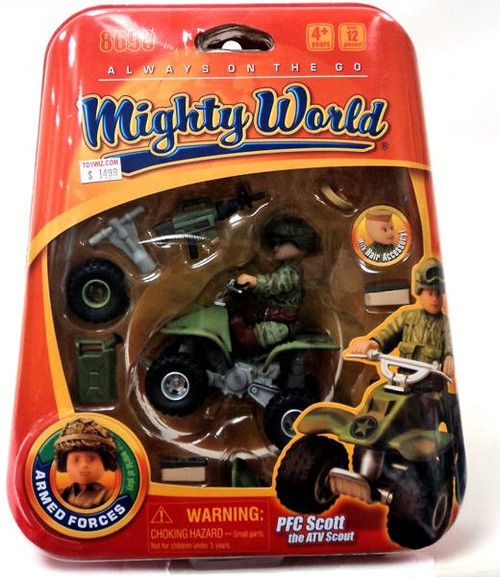 Mighty World Always on the Go PFC Scott the ATV Scout Playset #8690