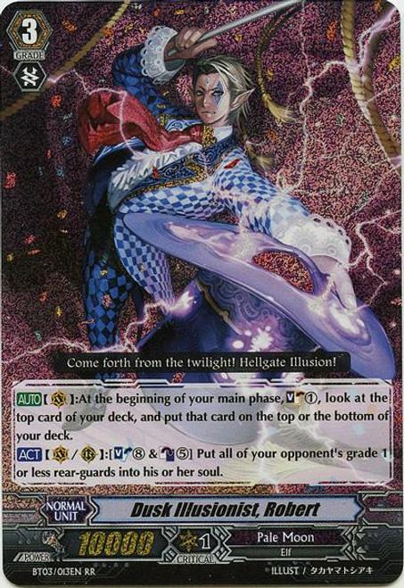 Cardfight Vanguard Demonic Lord Invasion Double Rare RR Dusk Illusionist, Robert BT03-013