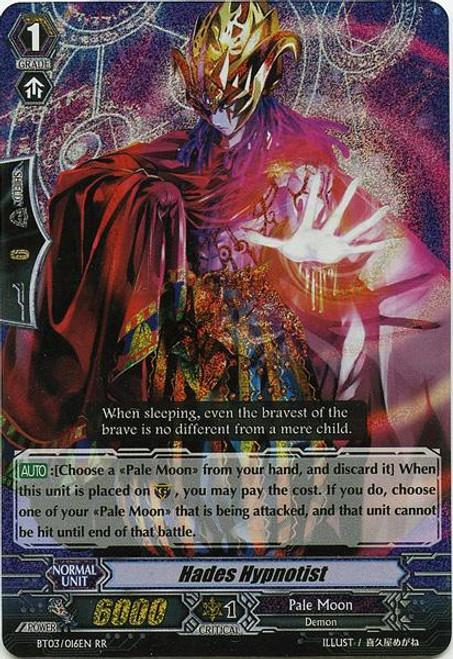 Cardfight Vanguard Demonic Lord Invasion Double Rare RR Hades Hypnotist BT03-016