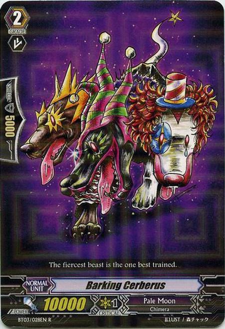 Cardfight Vanguard Demonic Lord Invasion Rare Barking Cerberus BT03-028