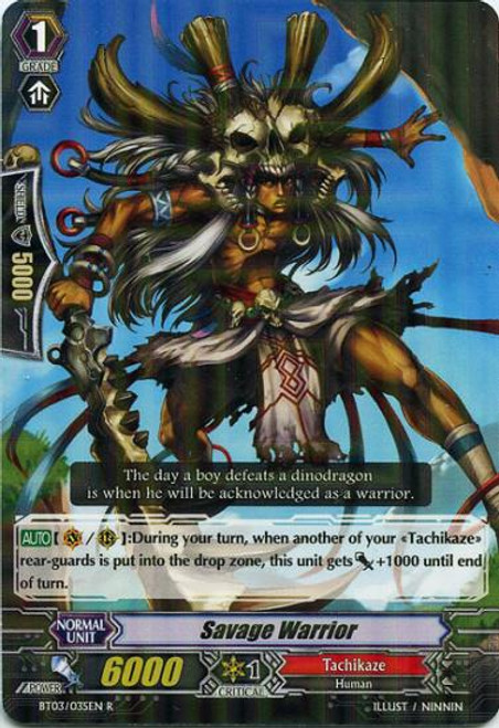 Cardfight Vanguard Demonic Lord Invasion Rare Savage Warrior BT03-035