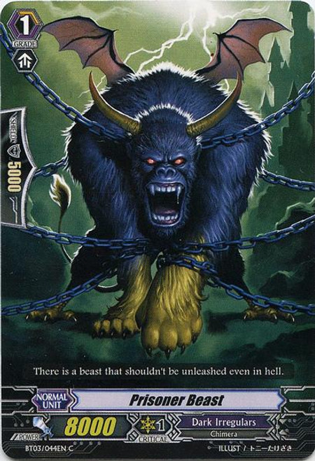 Cardfight Vanguard Demonic Lord Invasion Common Prisoner Beast BT03-044