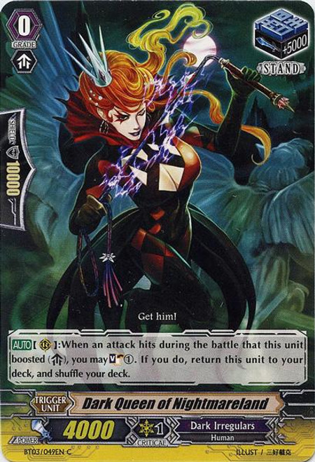 Cardfight Vanguard Demonic Lord Invasion Common Dark Queen of Nightmareland BT03-049