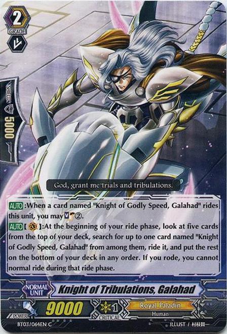Cardfight Vanguard Demonic Lord Invasion Common Knight of Tribulations, Galahad BT03-064