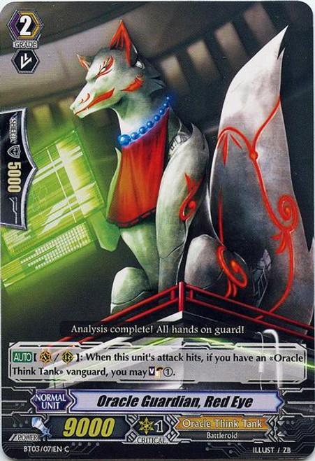 Cardfight Vanguard Demonic Lord Invasion Common Oracle Guardian, Red Eye BT03-071
