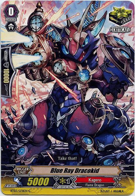 Cardfight Vanguard Demonic Lord Invasion Common Blue Ray Dracokid BT03-078