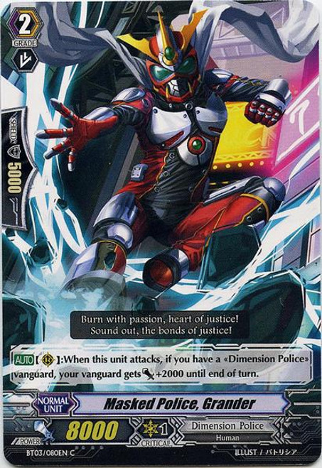 Cardfight Vanguard Demonic Lord Invasion Common Masked Police, Grander BT03-080