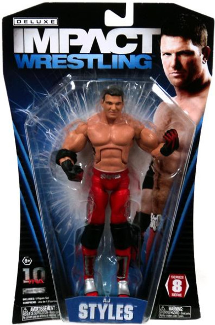 TNA Wrestling Deluxe Impact Series 8 AJ Styles Action Figure